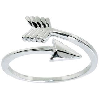 Eternally Haute Sterling Silver Adjustable Arrow Midi Knuckle Ring