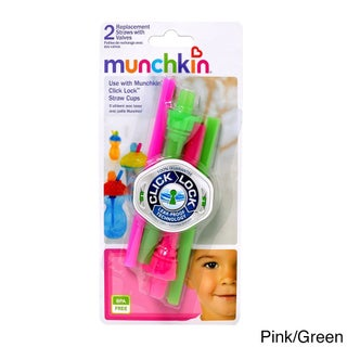 Munchkin Click-lock Replacement Straws with Valves (Pack of 2)