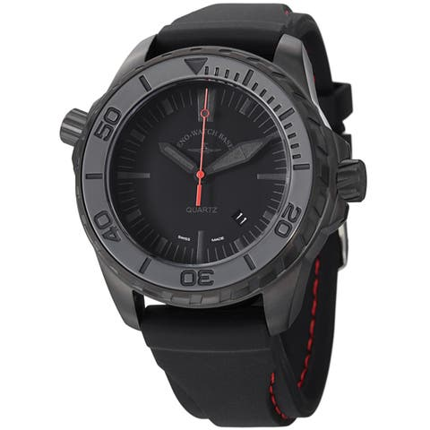 d8c896060cf Zeno Men s 6603Q-BK-A1  Divers  Black Dial Black Rubber Strap Quartz