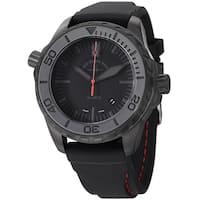 Zeno Men's 6603Q-BK-A1 'Divers' Black Dial Black Rubber Strap Quartz Watch