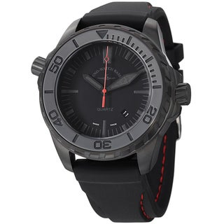 Zeno Men's 6603Q-BK-A1 'Divers' Black Dial Black Rubber Strap Quartz Watch