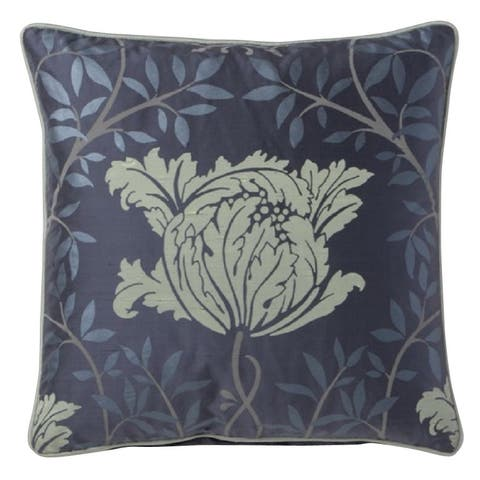 Corona Decor Fine Floral Design Silk Accent Pillow