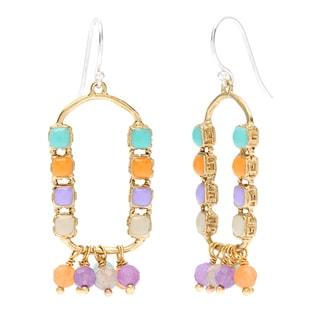 South Beach Gemstone Beaded Dangle Earrings