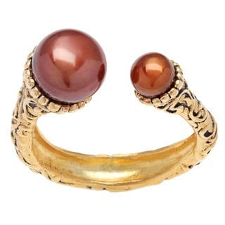 Annabelle Gold Overlay Chocolate Pearl Ring