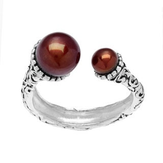 Annabelle Silverplated Chocolate Pearl Ring