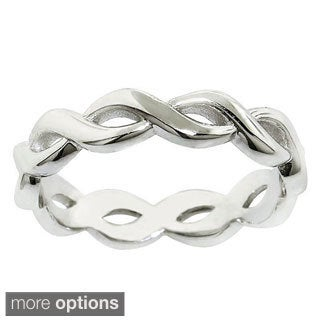 Eternally Haute Sterling Silver Infinity Midi Knuckle Ring