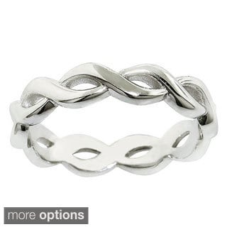 Eternally Haute Sterling Silver Infinity Midi Knuckle Ring