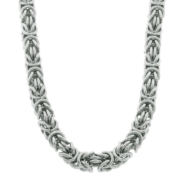 Eternally Haute Stainless Steel Byzantine 20-inch Chain Necklace