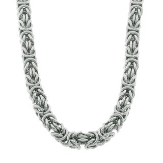Eternally Haute Stainless Steel Byzantine 20-inch Chain Necklace