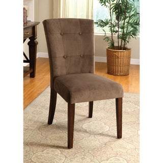Furniture of America Melisea Mocha Velvet Dining Chairs (Set of 2)
