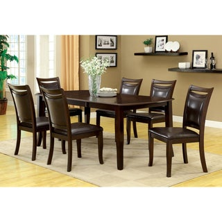 Amazing Furniture Of America Clemmine 7 Piece Espresso Extendable Dining Set
