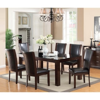 Furniture of America Taff Modern Cherry Solid Wood 7-piece Dining Set