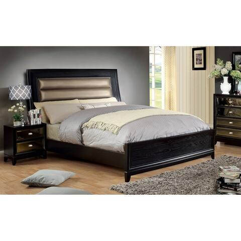 Furniture of America Zow Contemporary Black 2-piece Bedroom Set