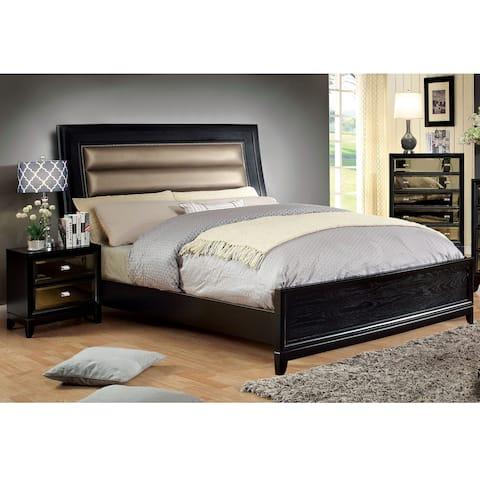 Contemporary Black 3-piece Bed Set