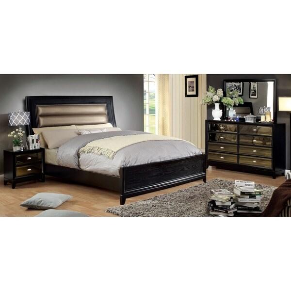Contemporary Black 4-piece Bedroom Set