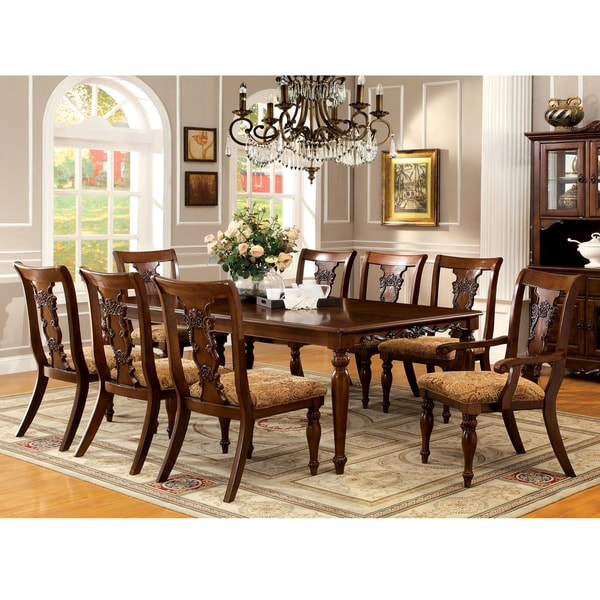 Formal Dining Room Sets For 12: Shop Furniture Of America Ella Formal 7-piece Dark Oak