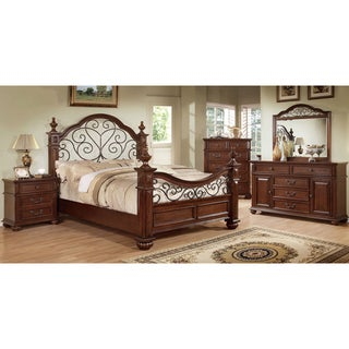 Barath Traditional Antique Dark Oak 4-Piece Bedroom Set by FOA (California King)