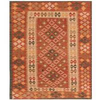 Handmade Herat Oriental Afghan Tribal Wool Kilim (Afghanistan) - 3'4 x 4'1
