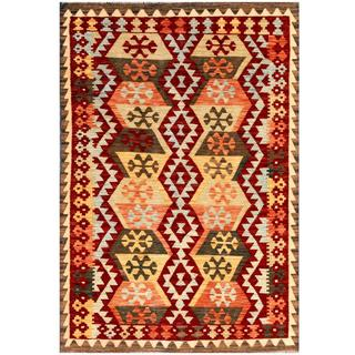 Herat Oriental Afghan Hand-woven Wool Kilim (4'1 x 5'11)