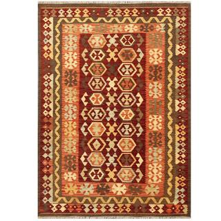 Herat Oriental Afghan Hand-woven Wool Kilim (4'3 x 5'11)