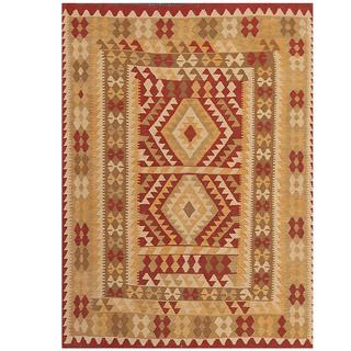 Herat Oriental Afghan Hand-woven Wool Kilim (4'10 x 6'8)