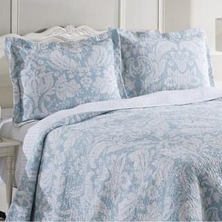 Shop Laura Ashley Connemara Blue Reversible Cotton 3 Piece