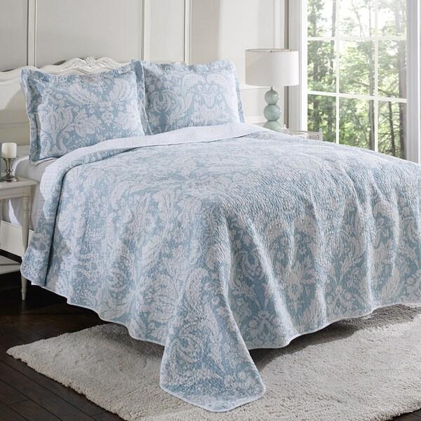 Laura Ashley Connemara Blue Reversible Cotton 3 Piece