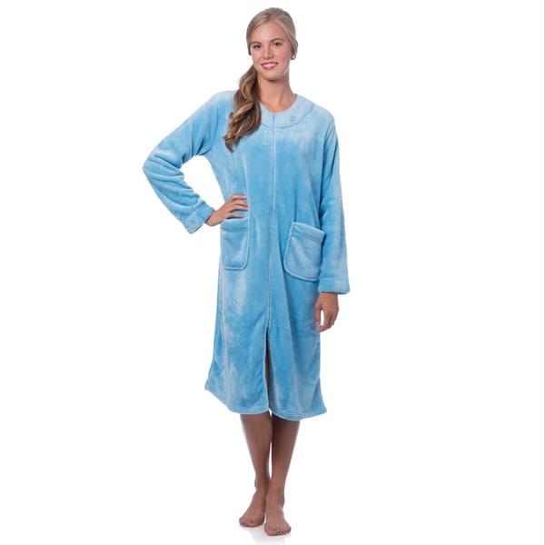Super Plush Zip-front Robe