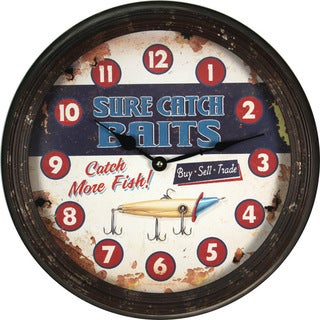 River's Edge 15-inch Rusty Metal Clock