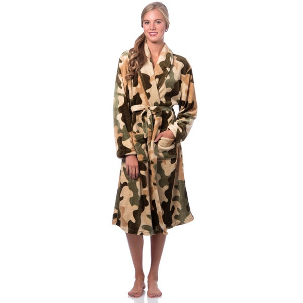 Camouflage Micro Plush Robe