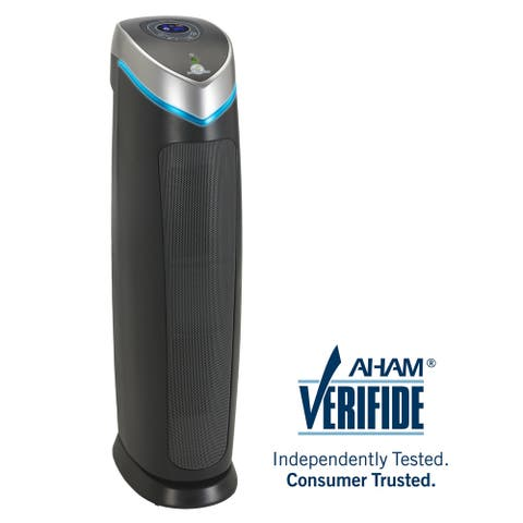 GermGuardian AC5250PT 3-in-1 28-inch HEPA PET Digital Tower Air Purifier with UV-C Sanitizer
