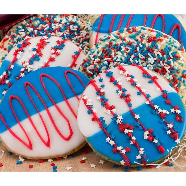 Red, White and Blue Star Sprinkled Cookies