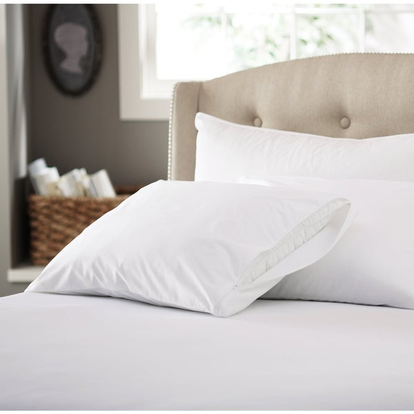 Cotton 200 Thread Count Pillow Protector with Zipper (Set of 4)