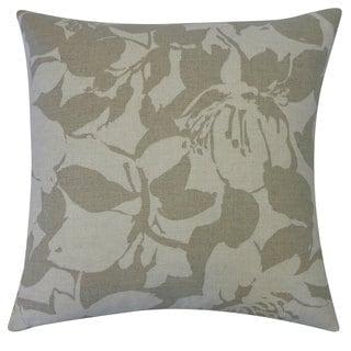20 x 20-inch Peony Grey Throw Pillow