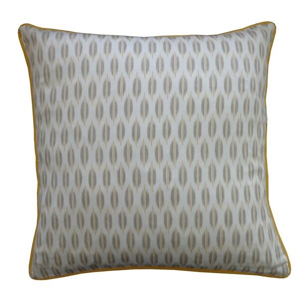 "Handmade Arrow Yellow Throw Pillow - 20"" x 20"""