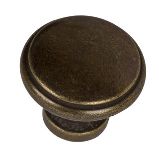 GlideRite 1.125-inch Antique Brass Round Ring Cabinet Knobs (Pack of 10)