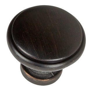 GlideRite 1.125-inch Oil-rubbed Bronze Round Ring Cabinet Knobs (Pack of 10)