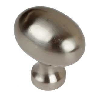 GlideRite 1.25-inch Satin Nickel Classic Oval Egg Cabinet Knobs ...