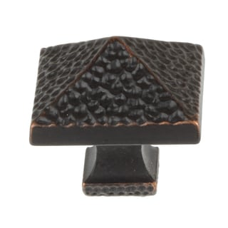 GlideRite 1.25-inch Oil-rubbed Bronze Hammered Pyramid Cabinet Knobs (Pack of 10)