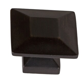 GlideRite 1.375-inch Oil-rubbed Bronze Square Cabinet Knobs (Pack of 10)