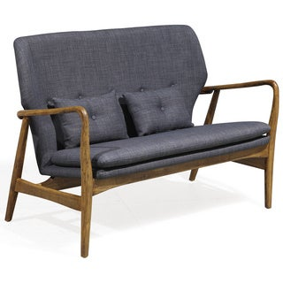 Madison Charcoal Linen-weave Loveseat
