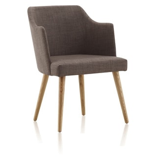 Louvre Grey Linen Weave Dining Chair