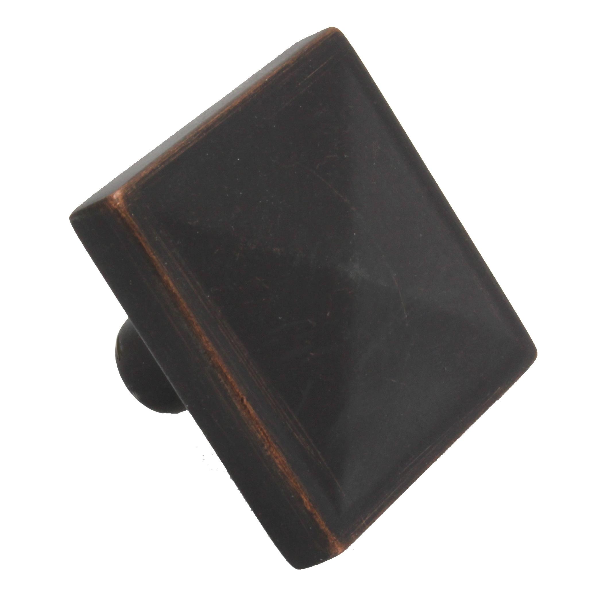 GlideRite 1.125-inch Oil-rubbed Bronze Classic Square Pyr...