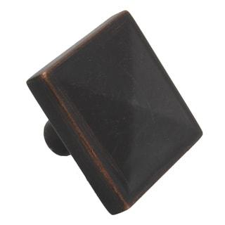 GlideRite 1.125-inch Oil Rubbed Bronze Square Pyramid Cabinet ...