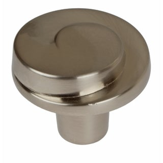 GlideRite 1.125-inch Satin Nickel Classic Wave Cabinet Knobs (Pack of 10)