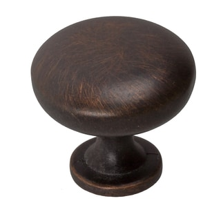 GlideRite 1.125-inch Classic Oil-rubbed Bronze Round Cabinet Knobs (Pack of 10)