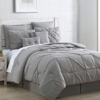 Amraupur Overseas Ella Embellished 8 piece Comforter Set  Option  Grey. Grey Comforter Sets For Less   Overstock com