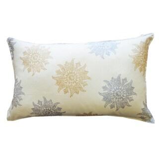 Mandela Gold Silver Throw Pillow