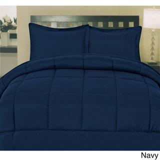 Plush Solid Color Box Stitch Down Alternative Comforter