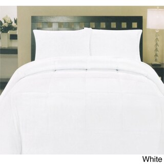 Plush Solid Color Box Stitch Down Alternative Comforter (More options available)